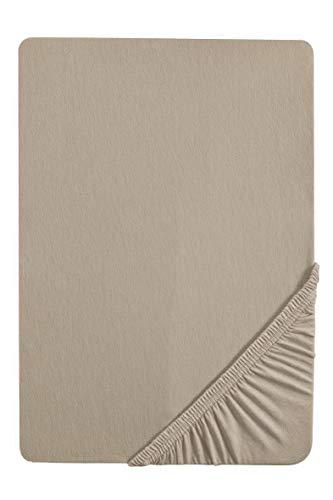 Biberna 0077641 Lenzuolo Topper Jersey-Elastic (Altezza Topper 8-12 cm) 1X 90X190 cm  100X220 cm, Basalto