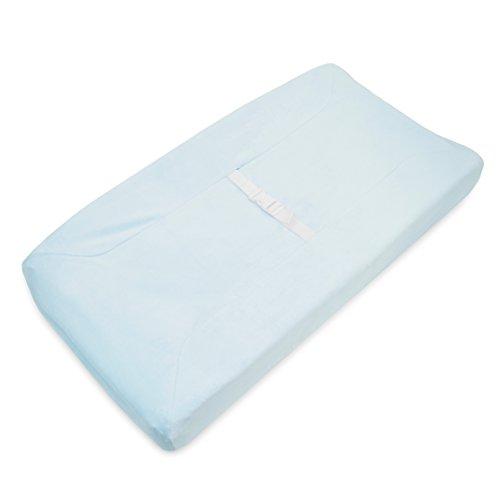 TL Care Heavenly Soft chenille Fitted Contoured Changing Pad Cover, Blue by TL Care