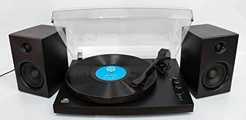 GPO Retro Piccadilly zwart – platenspeler (zwart, 33,45,78 omw/min, draaibaar, 8 W, DC, 405 mm)