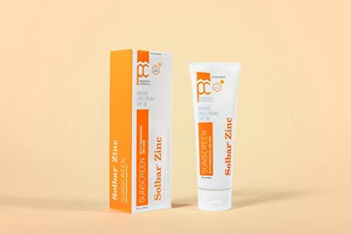 SOLBAR Sunscreen Zinc Unscented Transparent Cream SPF 38, 4 oz