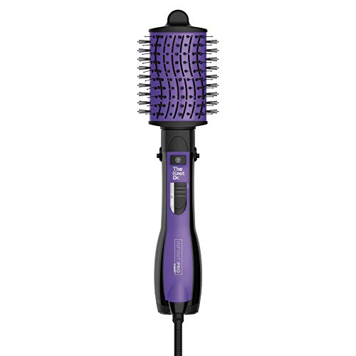 INFINITIPRO BY CONAIR All-in-One Dryer Brush, Wet / Dry Styler, Hair Dryer and Volumizer Hot Air Brush, Hot Air Brush with The Knot Dr. Flexalite Bristles for painless detangling