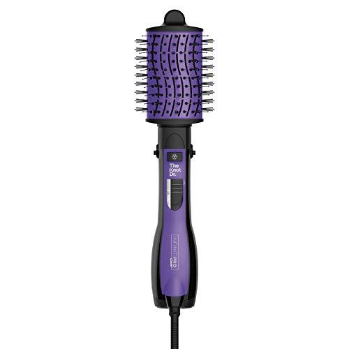InfinitiPRO by Conair Detangling Hot Air Brush, Wet / Dry Styler, Hair Dryer and Volumizer, Flexalite Bristles for painless detangling