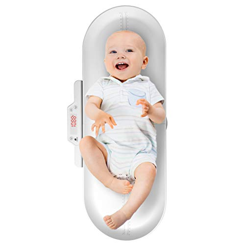 CRZDEAL Báscula Digital para Bebés Rango de Pesaje de 50g a 100kg Balanza Bebe con Bandeja de Pesaje Extraíble Báscula para Niños Adecuado para Recién Nacido/ Niños Pequeños/ Adultos