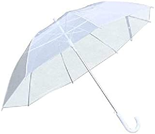 Convenient and Lightweight Leisure Portable Fashion Transparent Women Mini Clear Rain Umbrella PVC Dome for Wedding Party Favor,Clear