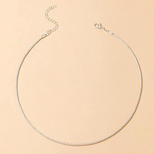 MIKUAU Collar Collar de Gargantilla de Cadena de Color para Mujer, Accesorios de joyería de Cadena de clavícula Sexy con Encanto