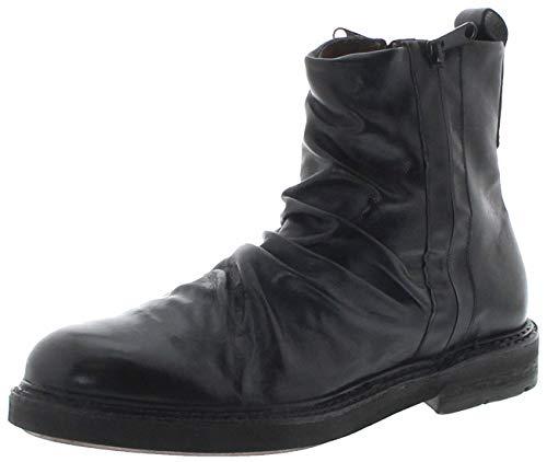 FB Fashion Boots Herren Schuhe 332204 Nero Lederstiefelette Schnürschuhe Schwarz inkl. Schuhdeo 45 EU