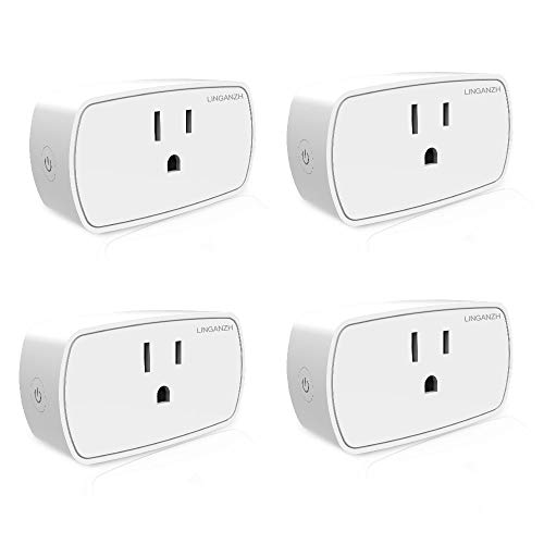 LINGANZH Smart Socket Work with Amazon Alexa Echo Smart Plug, Amazon Smart WiFi Plug, No hub Required, Smart Home Remote...