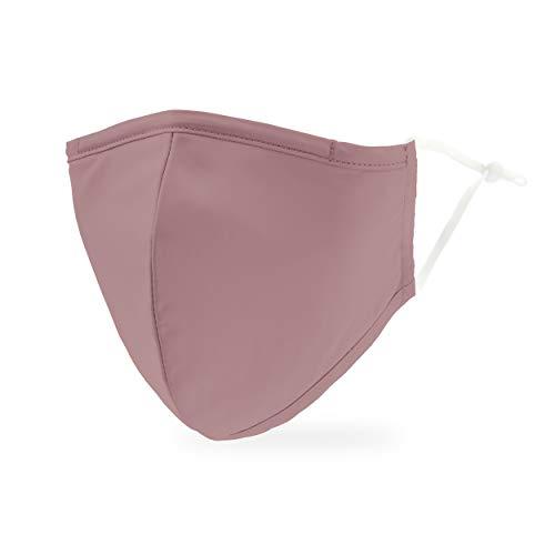 Weddingstar Maschera facciale in tessuto lavabile per adulti Copertura protettiva in tessuto riutilizzabile e regolabile con tasca per filtro antipolvere - Malva