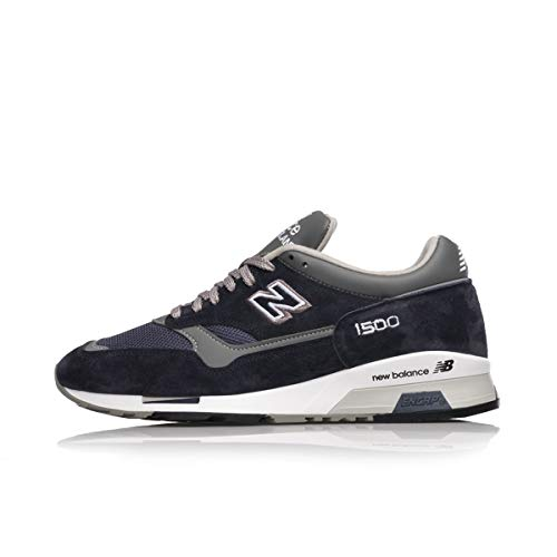 New Balance 1500 Made in England M1500PNV Navy Grey White (US 7.5 - Navy)