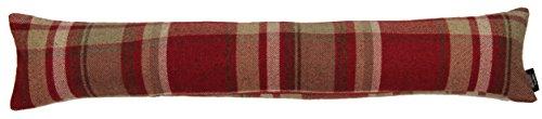McAlister Textiles Heritage | Zugluftstopper mit Füllung im Tartan-Muster kariert 18cm x 90cm in Rot | Deko Windstopper für Fenster, Türen im Schottenkaro, Tweed