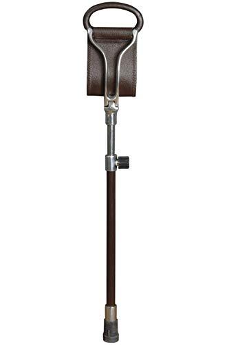 Classic - Bastón con asiento integrado (ajustable, con contera de goma)