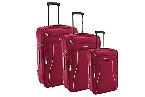 Compagnie du bagage Set de 3 Valises Juego de Maletas 51 Centimeters Rojo (Bleu)