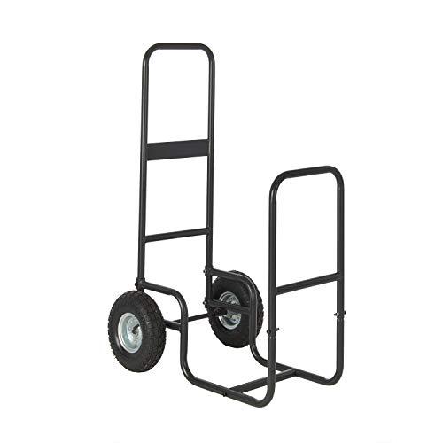HY-C SLCAD Shelter Log Caddy Firewood Mover - 150 lbs. Capacity, All-Steel Frame, Easy-Tilt Design