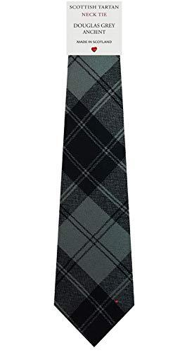 I Luv Ltd Cravate en Laine pour Homme Tissée et Fabriquée en Ecosse à Douglas Grey Ancient Tartan