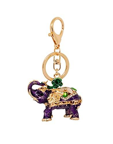 Heminea Royal Elephant - Colgante para bolso, color morado