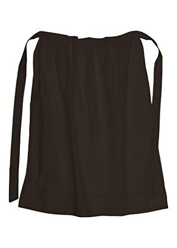 Battle-Merchant Lange Mittelalter Schürze, braun, aus Baumwolle für Mittelalter Wikinger LARP oder Kostüm Damen Frauen onesize