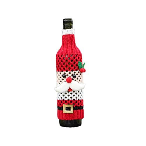Noete 5 Stück 28 * 9CMBedruckte Weinflaschenhülle Weihnachten Weinflaschen Taschen Geschenk Weinliebhaber