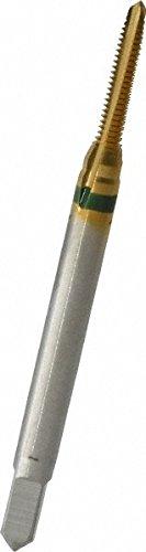GUHRING 9039160021840 Spiral Point Tap, Plug, Cobalt, TiN Coating, 3 Flute, 2-56 Size