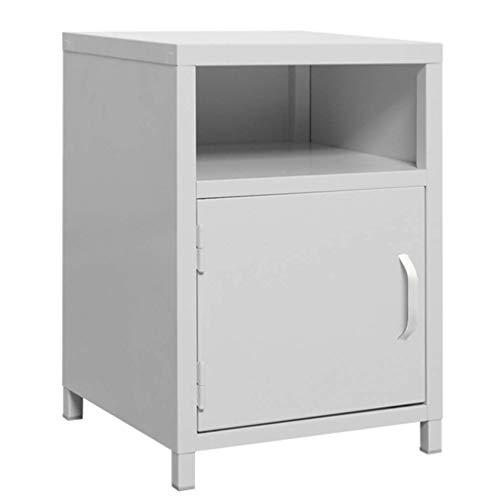 Metalen nachtkastje, boekenplank opbergdoos bank opbergkast zijhoek tafelZHFZD, Size, Grijs