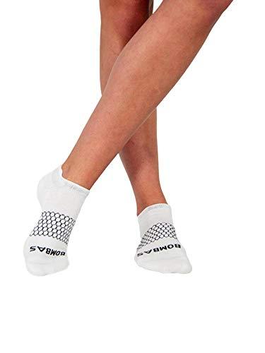 Bombas Women's Original's White Ankle Socks, Size Small