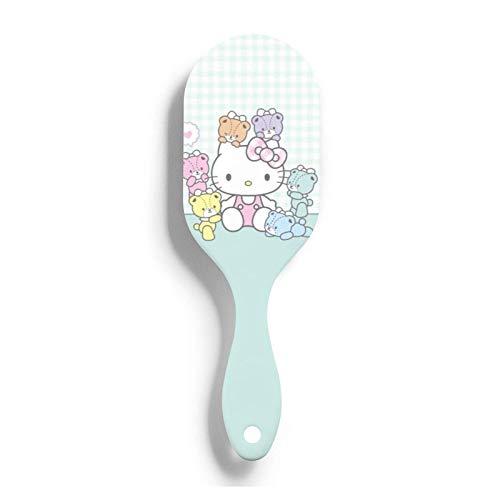Hello Kitty Circular arco forma cepillo de pelo cuero cabelludo antiestático masaje aire peine peine desenredante cepillo para hombres mujeres niños