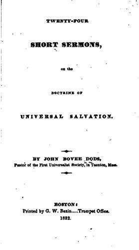 Twenty-four Short Sermons, On the Doctrine of Universal Salvation (English Edition)
