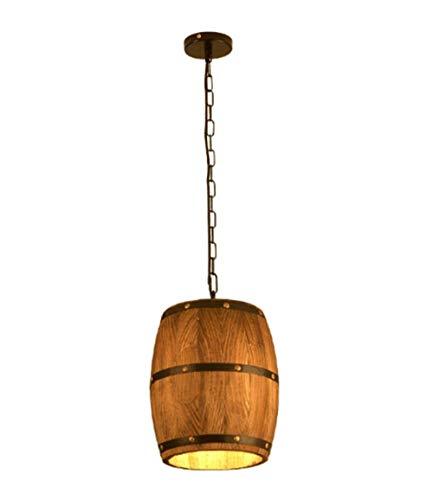 candelabro DBL De la lámpara Colgante Luz Pendiente de la Vendimia de bambú LED de Techo Industrial Retro del Barril de Madera Luces lámpara del Dormitorio de la Sala de Techo
