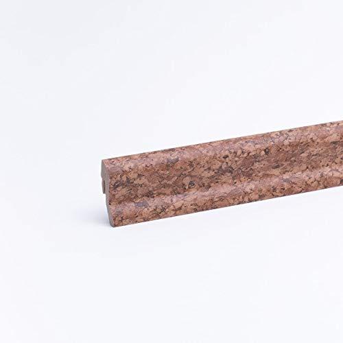 Sockelleiste - Fußleiste 40 x 22 x 2.600mm Dekor Kork