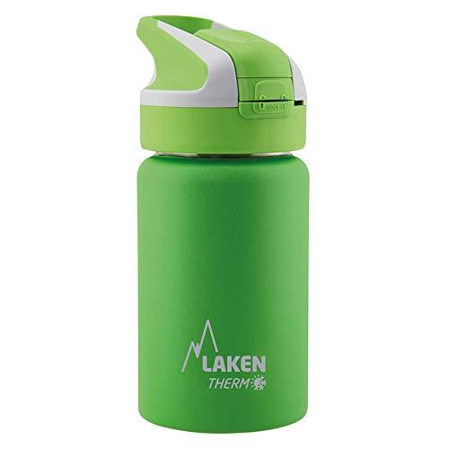 Laken Botella Térmica Reutilizable Summit de Acero Inoxidable con Tapón Automático y Cierre de Seguridad, 500ml, Verde