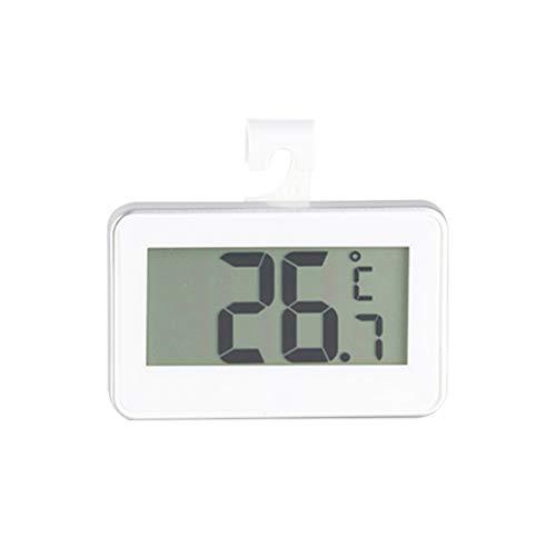 joyliveCY Digitales Kühlschrankthermometer Digitales Gefrierthermometer LCD-Display Wasserdichtes Gefrierthermometer mit Haken zum einfachen Ablesen
