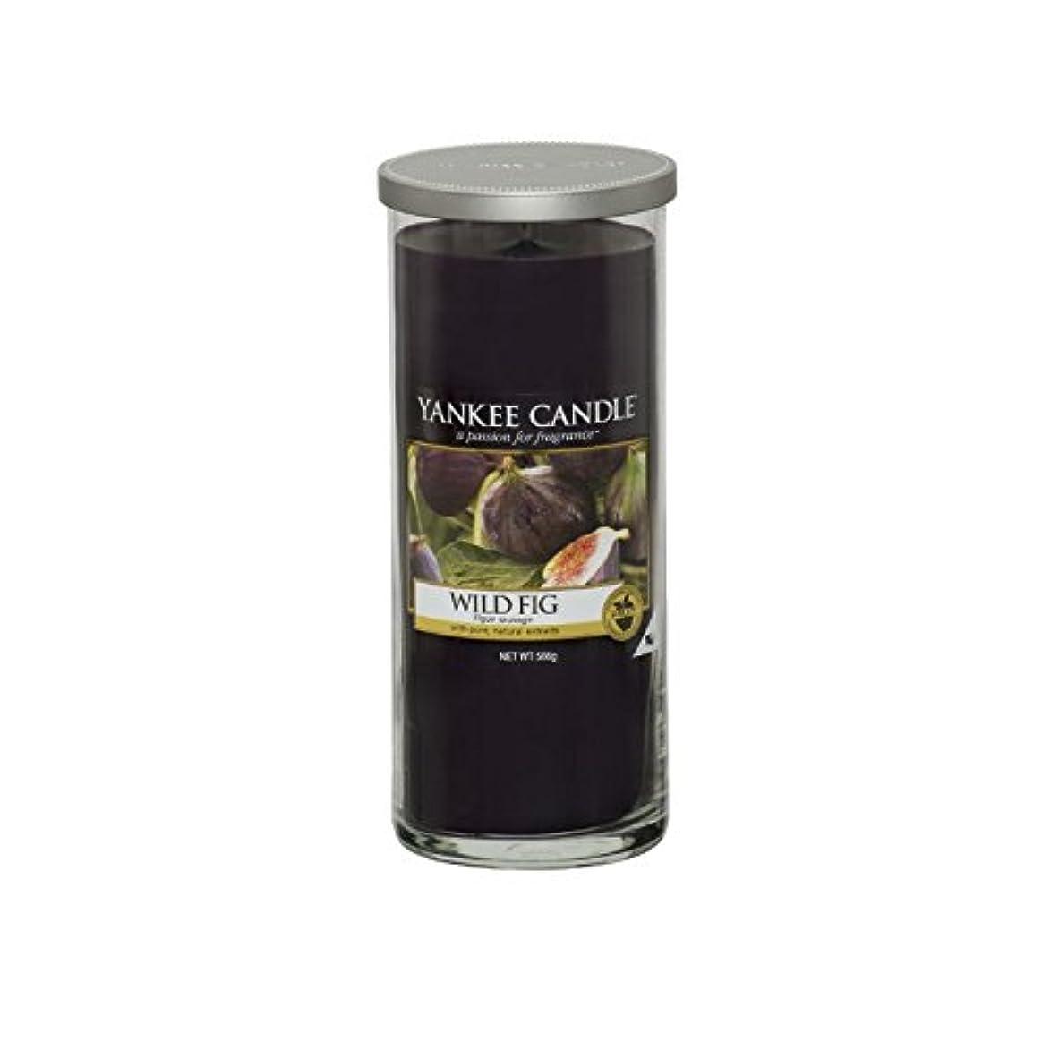 うそつき提出する計算するヤンキーキャンドル大きな柱キャンドル - 野生のイチジク - Yankee Candles Large Pillar Candle - Wild Fig (Yankee Candles) [並行輸入品]