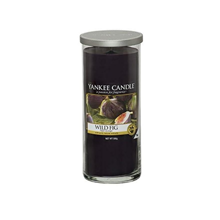 誠実エールパーティーヤンキーキャンドル大きな柱キャンドル - 野生のイチジク - Yankee Candles Large Pillar Candle - Wild Fig (Yankee Candles) [並行輸入品]