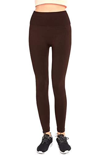 Sofra High Waist Winter Leggings (Brown)
