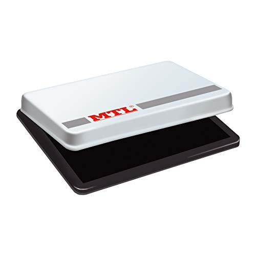 MTL 79532 - Tampón metálico de sellar, 109 x70 mm, color negro 🔥