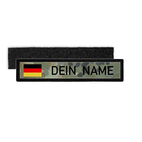 Copytec Deutschland BW Namenschild Patch mit Namen Bundeswehr Flecktarn Aufnäher #24347