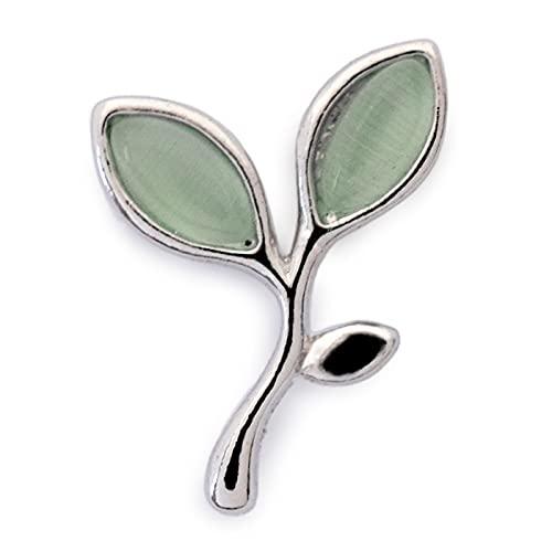 ニッケルフリー マスク アクセサリー 植物 芽 双葉 ブローチ マスクピアス マスクチャーム レディース 金属アレルギー マスクのおしゃれ