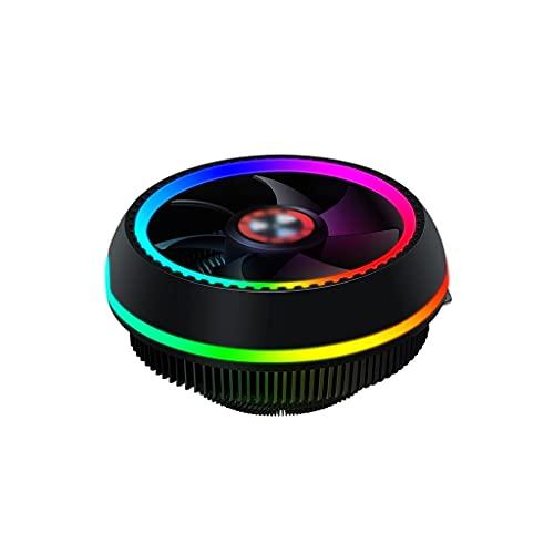 AWYST PC Cooler CPU Cooler para funcionamiento continuo 92 mm PWM Fan Universal Socket Solution CPU Air Cooler LED Light Quiet Cooling Fan Disipador
