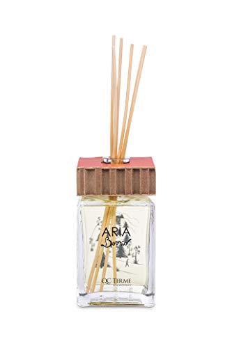QC Terme Aria Bormio 500ml Art Edition, Profumatore per Ambiente con Diffusore a Bastoncini, Fragranza Aromatica, Legnosa, Ambrata e Muschiata, Made in Italy
