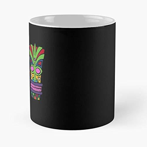 Tiki Island Beach Wood Hawaii Polyniesian Vacation Hawaiian I Fsgfantasy- Best 11 oz Novelty Coffee Mug, made of ceramic !