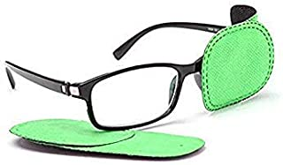 Adecco LLC 6pcs Amblyopia Eye Patches For Glasses, Kids Eye Patch,Strabismus, Lazy Eye Patch For Children (green)