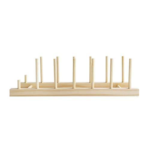 Yxsd Estante de madera de bambú, escurridor multifuncional para cocina, escurridor de platos, estante para taza, libro, tapa, tabla de cortar, organizador de almacenamiento de cocina