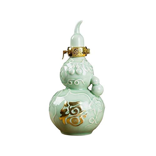 Chujian Ceramics - Jarra de vino (500 ml, 1000 ml, botella vacía, 500 ml, 100 ml, capacidad: 1000 ml)