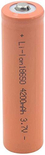 18650 batería de Litio 3,7 v 4200 mah baterías de Iones de Litio Recargables para Linterna Frontal micrófono de Banco de energía 2 Piezas-4 Piezas