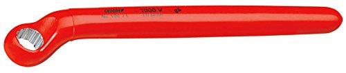 GEDORE VDE 2 E 22 VDE-Einringschlüssel, tief gekröpft, VDE isoliert bis 1000 V, nach EN 60900 / IEC 60900 mit 2-fach Check-Tool-Isolierung, Vanadium-Stahl 31CrV3, UD-Profil, 22 mm
