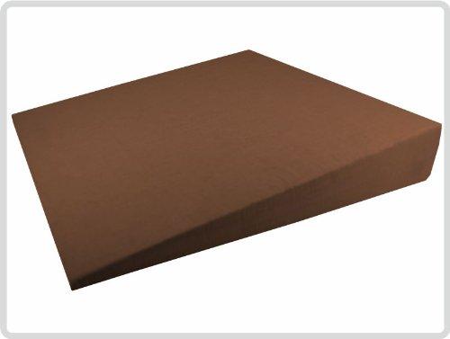 Orthopädisches Keilkissen 100 % Baumwollbezug! - Farbe: Braun - Kissen Sitzkissen Sitzkeilkissen Sitzkissen Sitzkeil *Top-Qualität zum Top-Preis*