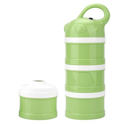 3 lagen babymelkpoeder Formula Dispenser, Cestmall babyvoeding Travel Storage Container met handvat, BPA-vrij Antilek Twist-Lock Stapelbare melkpoeder Formula Container Snackopslag voor buiten