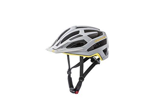 Cratoni Fahrradhelm C-Flash MTB Gr. M/L 56-59cm grau gelb matt ca. 220g Fahrrad