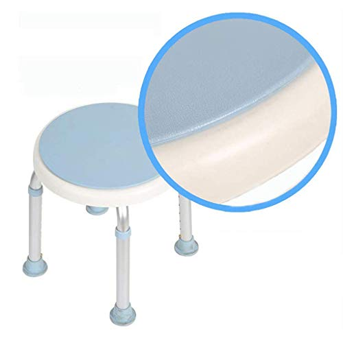 Home Shower Chair Rotating Round Bath/Shower Stool Lightweight Bathtub Chair with Swivel Seat Adjustable In 8 Height Heavy Duty Non Slip Leg