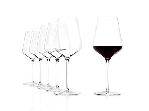 Stölzle Lausitz Bordeauxkelch Starlight 675ml I Rotweingläser 6er Set I Weingläser spülmaschinenfest I Rotweingläserset bruchsicher I hochfunktionelle Weinkelche