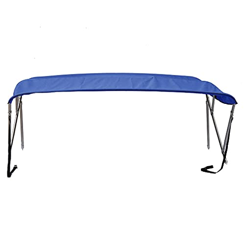 Royal Blue 3-Bow Bimini Top Compatible with Renken 174 BR O/B for Model Years 1977-1980